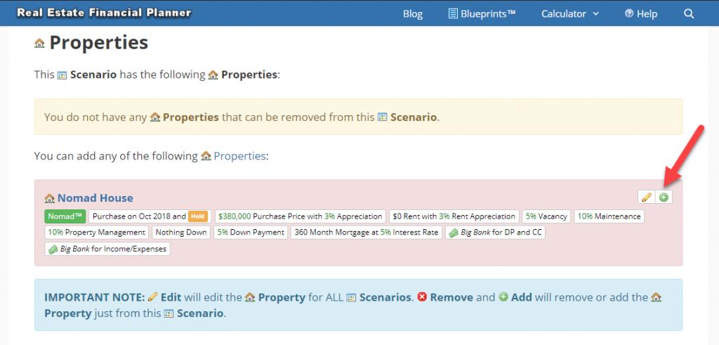 Add Property to Scenario