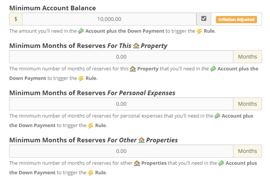 Better Modeling of Reserves in the Real Estate Financial Planner™ Software