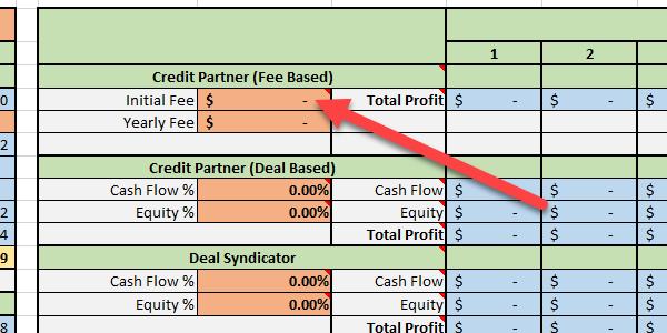 Credit Partner - Initial Fee