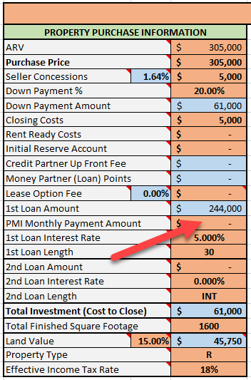 PMI Monthly Payment Amount